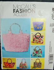 McCALL'S SEWING PATTERN #MP367 HANDBAGS SIX STYLES FASHION ACCESSORIES UNCUT