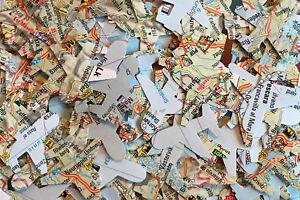 Wedding Table Top Confetti - Aeroplanes - World Maps/Atlas/Paper/Vintage/Rustic