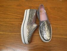 2747dea1664 KATE SPADE NEW YORK TRIPLE DECK SILVER GLITTER SHOES NEW SIZE 5