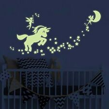 Magical Unicorn Star Wall Sticker Kids Bedroom Glow In The Dark Decals DIY Decor