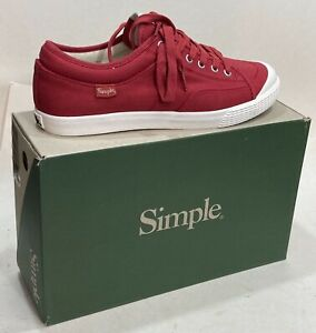Men's Simple Shoes SLO Canvas Sneakers RED Size 11 NEW IN BOX Women's 13