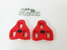 Look Delta Red  Bi Material Road Bike Pedal Cleats 9° float