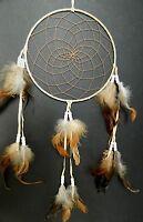 DREAM CATCHER APACHE INDIAN LARGE CREAM traditional native american 20 x 35cm