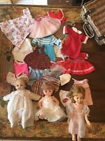 VINTAGE LOT HANDMADE DOLL CLOTHING AND DOLLS 1966 MADAME ALEXANDER VICTORIA