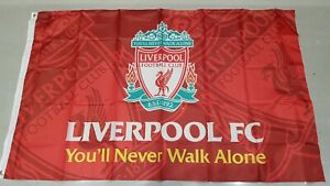 Liverpool FC Official Crest Flag / Banner - You'll Never Walk Alone 5 ft x 3 ft