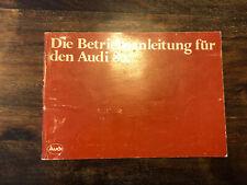 RAR Prospekt brochure Bedienungsanleitung Audi 80 8/82