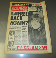 1971 SOUNDS Music Magazine Newspaper VG Dec. Free Melanie Special Otis Redding