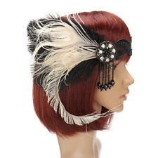 Great Gatsby Headpiece Feather Tassel  Flapper Vintage Hair Headbands Accessory