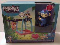 Authentic Wowwee Fingerlings Monkey Bar Playset w/Liv Baby Monkey