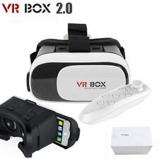 2017 Latest 3D Virtual Reality VR Box Glasses Phone Headset Helmet + Remote