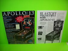 APOLLO 13 Pinball Machine Pull Out Ad Not A Flyer 1995 Framable Artwork + XTRA