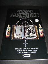 BOOK ROSARIO A LA SANTA MUERTE Santisima rosary spanish libro novena