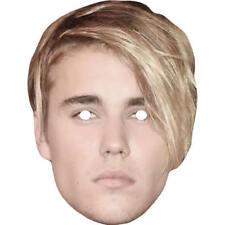 Justin Bieber 2018 Celebrity Singer Card Mask Carry On Films - Masks Are Pre-Cut