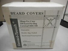 CT INTERNATIONAL HBC100 CORRECT-TOUCH BEARD COVERS WHITE (LOT OF 500)