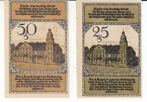 East Prussia Bialla 2 Bills 1920 Vote