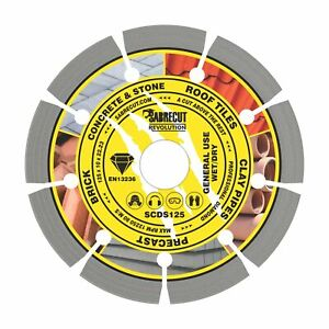 SabreCut 125mm Professional Diamond Cutting Disc for Bosch Dewalt Makita Grinder
