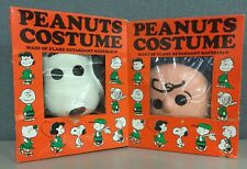 Rare Halloween Charlie Brown Snoopy Peanuts SM 4-6 Med 8-10 Vintage USA Made 60s