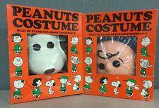 Rare Halloween Charlie Brown Snoopy Peanuts SM 4-6 Med 8-10 Vintage USA Made 60s