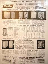 General Heating Products ALFOL ASBESTOS Heater Furnace Insulation Page Ad 1954