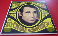 Double LP vinyl Album Les Grands Succès Barclay Vol. 10 Charles Aznavour !