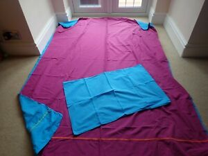 Matching Single Quilt cover & pillow case Purple & Blue both sides NCC
