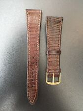"CORREA-STRAP RELOJ LAGARTO LEGITIMO MARRÓN 20MM ""NEW OLD STOCK 1960-1970"""