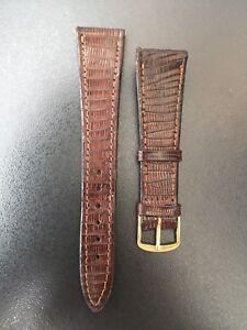 """Correa-Strap Watch LAGARTO Legitimate Brown 20MM """" New Old Stock 1960-1970 """""""