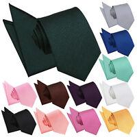 DQT Woven Geometric Greek Key Formal Mens Classic Tie & Handkerchief Wedding Set