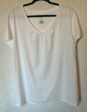 St. John's Bay Cotton Blend Short Sleeve Heart Neckline Tee Size 2X