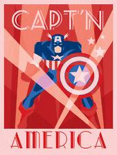 Marvel Deco - Captain America - Ready Framed Canvas