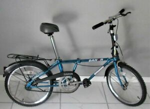 Dahon Vintage Folding Bicycle Blue 3-Speed Carry Rack Professional Shop Tune-Up