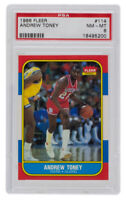 Andrew Toney 1986 Fleer #114 Philadelphia 76ers Card PSA NM-MT 8