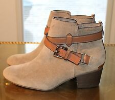Coach Pauline Women's Shoes Taupe Suede Zip Up Ankle Boots Size 6B A8984 new
