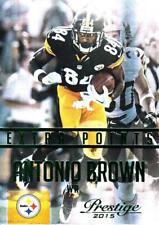 2015 Prestige Extra Points Green #77 Antonio Brown Steelers