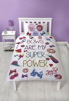 JoJo Siwa Bows My Super Power Reversible Panel Single Bed Duvet Quilt Cover Set