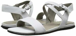 ECCO Womens Touch Ankle Gladiator Sandal - White Leather - EU 41 10 - 10.5
