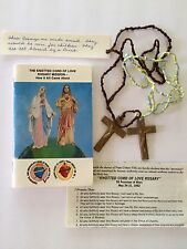 Vintage Knotted Cord of Love Rosaries and Booklet  Blessed