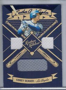 COREY SEAGER 2019 Panini Leather and Lumber Triple Jersey Relic #LLT-CY (G4152)