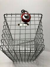 Vintage Kasper Wire Works Industrial Metal Gym Basket w/Combo Lock~Locker Room