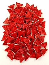 RED CERAMIC Mosaic Triangles Tiles