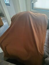 Plush Throw Blanket- Solid Brown- Brand New