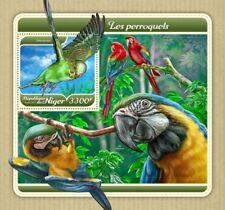 Niger fauna flora Parrots s/s S201801