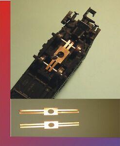 10 x Waggonbeleuchtung Radschleifer Achsschleifer Stromabnehmer Spur N / TT 01