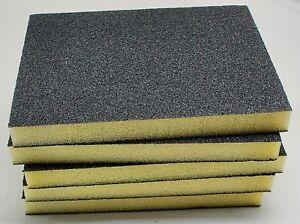 X5 FOAM SANDING PADS  80 GRIT  Wet & Dry Sandpaper Sponge Blocks black