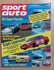 Sport Auto 9/1993 - Porsche 911 Turbo S Le Mans - Toyota Supra - 348 Spider