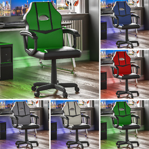 Racing Gaming Office Chair Computer Executive Leather Rotating Wheels Adjustable