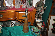 Antique Arts & Crafts Hammer Copper Pitcher Handle Converted Lamp Dual Socket