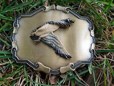 NEVER USED RAINTREE 1977 CANADA GOOSE BELT BUCKLE 3-D