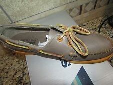 NEW SEBAGO DOCKSIDES BOAT SHOES WOMENS 10 LEATHER FLAT SHOES GRAY