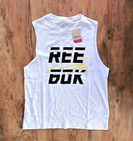Reebok Meet You There Workout Tanktop Damen Weiß Schwarz Gr S Crossfit DY8121